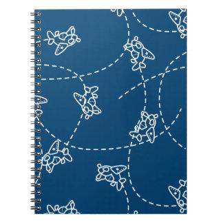 Cute planes spiral notebook