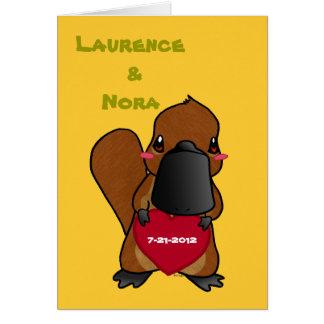 Cute Platypus Card