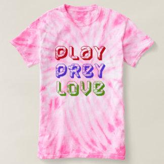 cute play prey love peace tank-top t-shirt design