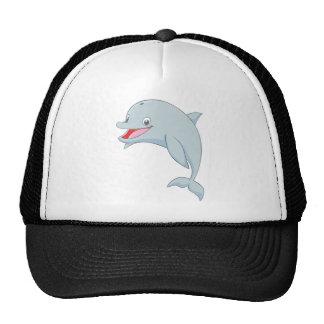 Cute Playful Dolphin Cartoon Hats
