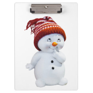 CUTE PLAYFUL SNOWMAN CLIPBOARD