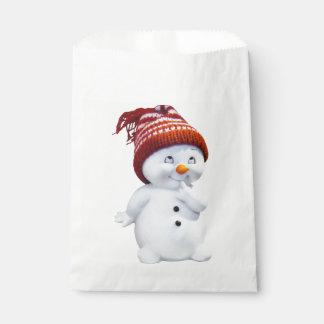 CUTE PLAYFUL SNOWMAN FAVOUR BAG