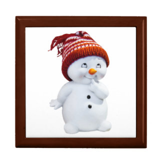 CUTE PLAYFUL SNOWMAN GIFT BOX