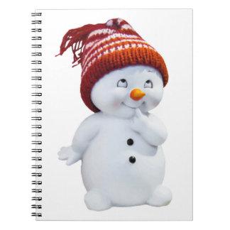 CUTE PLAYFUL SNOWMAN NOTEBOOK
