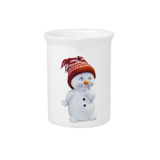 CUTE PLAYFUL SNOWMAN PITCHER