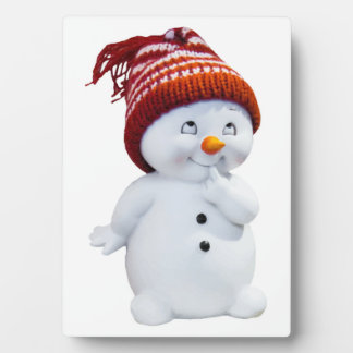 CUTE PLAYFUL SNOWMAN PLAQUE