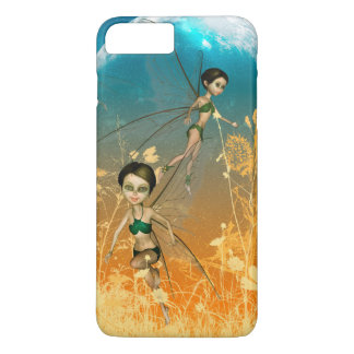 Cute playing and flying fairies in the night iPhone 7 plus case