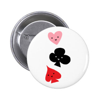 Cute Playing Card Suits 6 Cm Round Badge