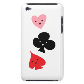 Cute Playing Card Suits iPod Case-Mate Cases