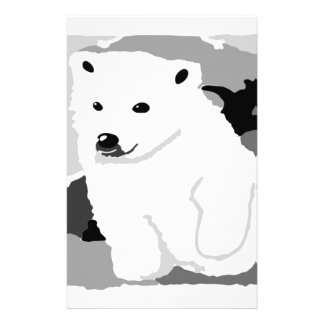 Cute Polar bear art gifts and accessories Stationery Paper