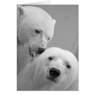 Cute polar bear couple greeting card