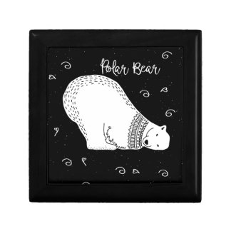 Cute Polar Bear Design in Black and White Gift Box