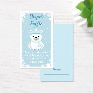 Cute Polar Bear Diaper Raffle Tickets