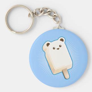 Cute Polar Bear Ice Cream Bar Keychain