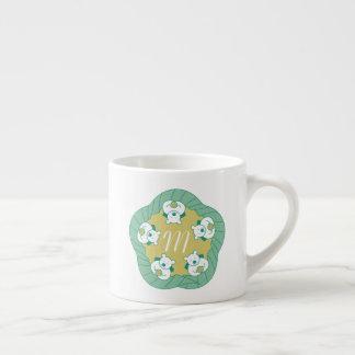 Cute Polar Bear Tea Break Monogram Espresso Mug