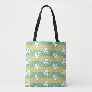 Cute Polar Bear Tea Break Pattern Tote Bag