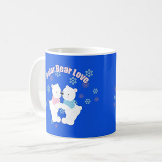 Cute Polar Bears and Snowflakes Coffee Mug