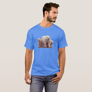 Cute Polar Bears Cubs Arctic Wildlife Men's Tshirt