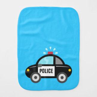 Cute Police Car with Siren Burp Cloths