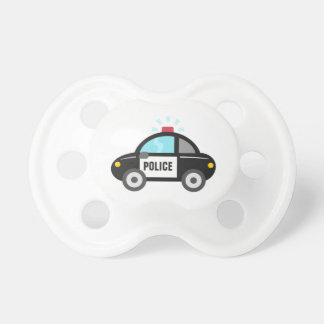 Cute Police Car with Siren Baby Pacifier
