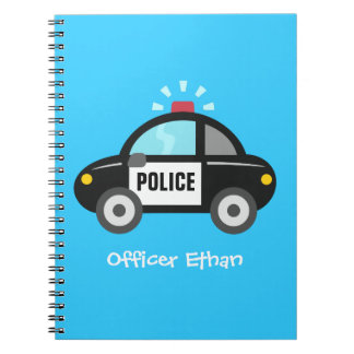 Cute Police Car with Siren For Kids Notebook