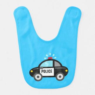 Cute Police Car with Siren Baby Bib