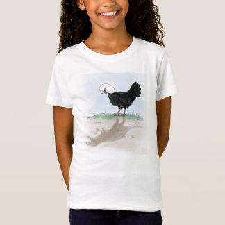 Cute Polish Chicken hunting a little lady bug T-Shirt