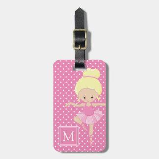 Cute Polka Dot Ballerina Luggage Tag