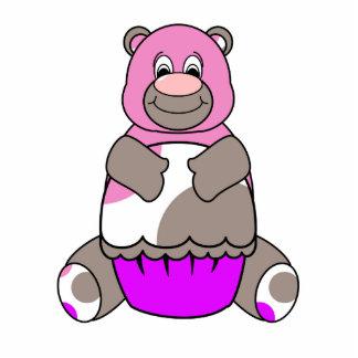 Cute Polka Dot Birthday Bear Ornament Photo Cutouts