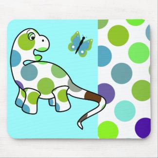 Cute Polka Dot Dinosaur Mousepad