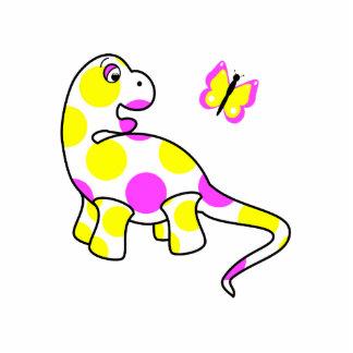 Cute Polka Dot Dinosaur Ornament Photo Cut Out