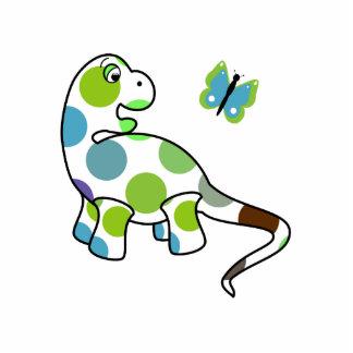 Cute Polka Dot Dinosaur Ornament Acrylic Cut Outs