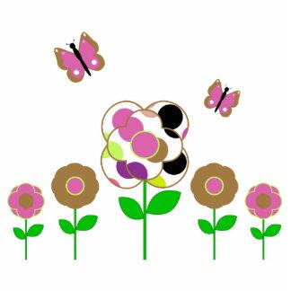 Cute Polka Dot Flowers Ornament Photo Cutout