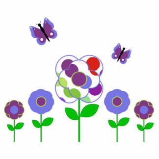 Cute Polka Dot Flowers Ornament Cut Outs