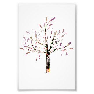 Cute Polka Dot Lavender Leaf Tree Photographic Print