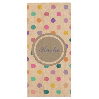 Cute polka dot personal flash drive confetti print