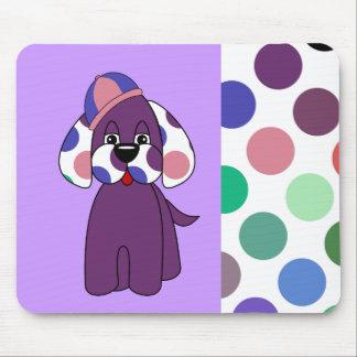 Cute Polka Dot Puppy Dog Mousepad