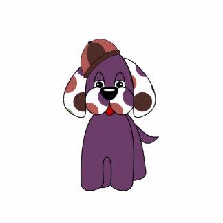 Cute Polka Dot Puppy Dog Ornament Photo Cut Out