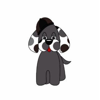 Cute Polka Dot Puppy Dog Ornament Cut Outs