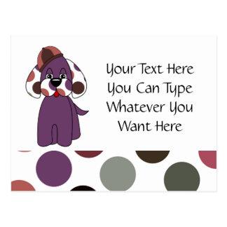 Cute Polka Dot Puppy Dog Postcard