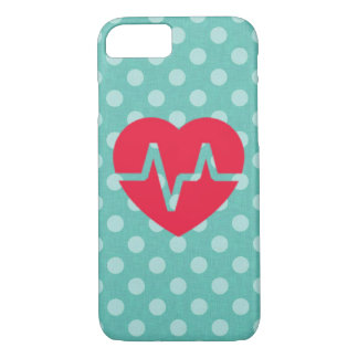 Cute polka dot red heart love girly phone case