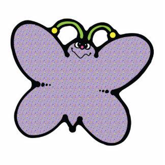 cute polka dots butterfly standing photo sculpture