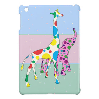 Cute Polka Dots Giraffe Elephant Design Case For The iPad Mini
