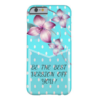 Cute Polka Dots Pattern-Motivational message Barely There iPhone 6 Case