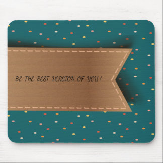 Cute Polka Dots Pattern-Motivational message Mouse Pad