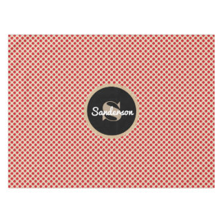 Cute Polka Dots w/Personalization Tablecloth