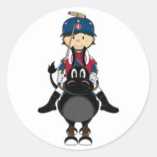 Cute Polo Player Sticker