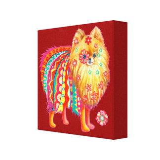 Cute Pomeranian Art on Canvas - Ready to Hang! Canvas Print