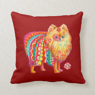 Cute Pomeranian Art Pillow Throw Cushions