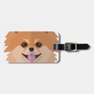 Cute Pomeranian Cartoon! Luggage Tag